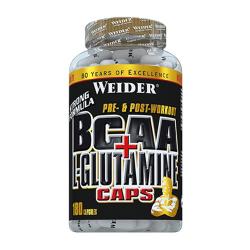 BCAA + L-Glutamine, 180 capsule, Weider