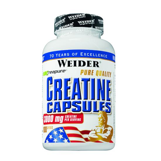 Pure Creatine Capsules, 100 capsule, Weider