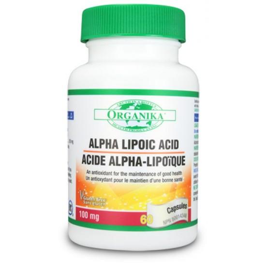 Acid alfa lipoic 100 mg, 60 caps, Organika