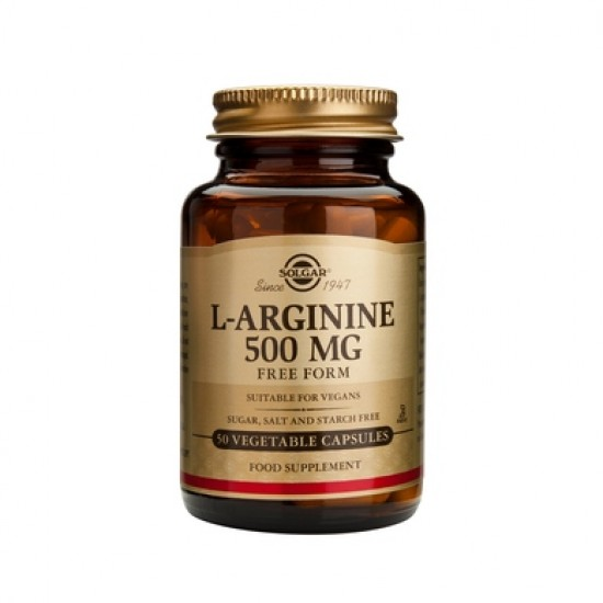 L-Arginine 500mg, 50 caps, SOLGAR