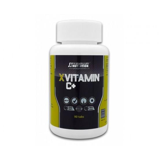 X Vitamin C+ (650mg) cu extract de cătină, 90 capsule, Xplode Gain Nutrition