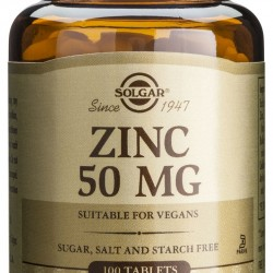 Zinc Gluconate 50mg, 100 tab, SOLGAR
