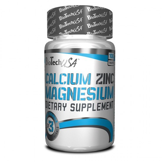 Calcium Zinc Magnesium, 100 tablete