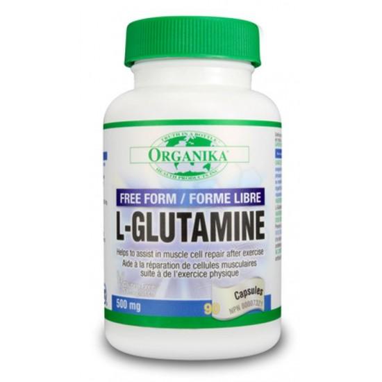 L-glutamina 500 mg, 90 caps, Organika